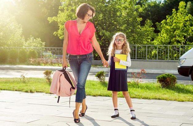 Mom and schoolgirl
